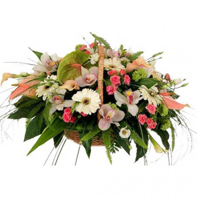 Корзина из цветов № 4
